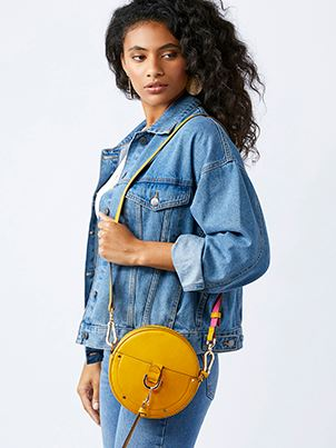 accessorize yellow cross body bag