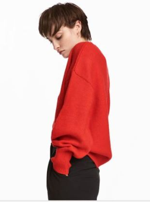 hm red sweater