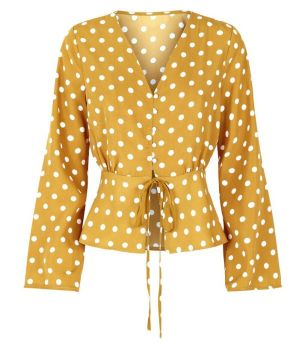 parisian-yellow-polka-dot-blouse-