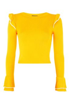 topshop frill sweater