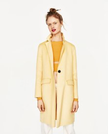 zara yellow coat