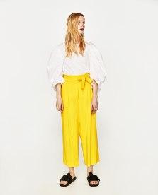 zara yellow cul