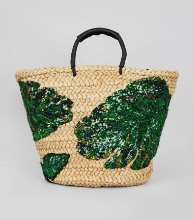 green-sequin-palm-leaf-basket-bag