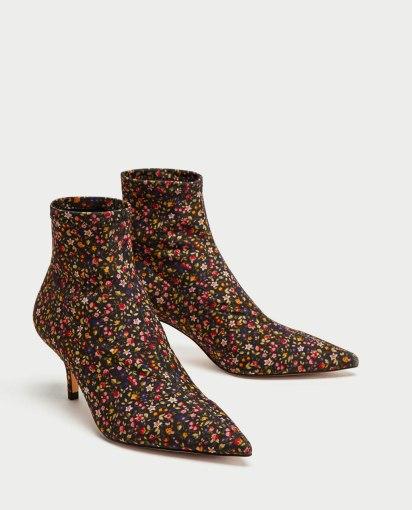 zara floral boots
