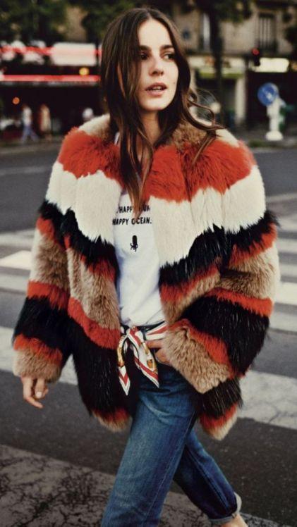 multi stripe fur