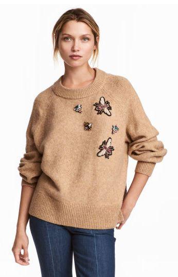 hm beaded sweater