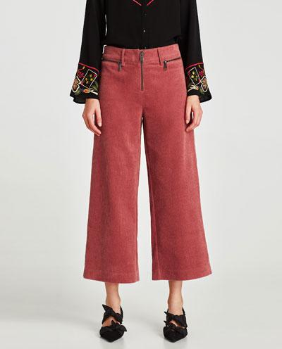 zara corduroy trousers