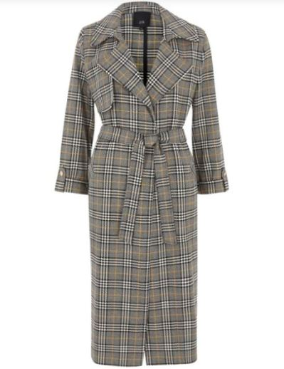 river island check trench