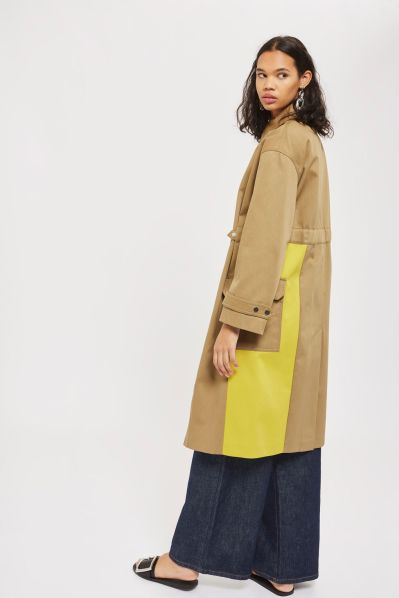 Topshop colour block trench