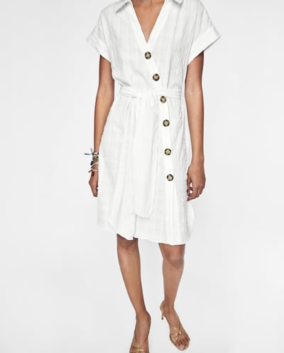 zara offwhite dress
